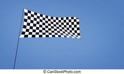 checkered flag wide angle - checkered flag animation