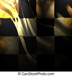 Checkered flag with some smooth folds in it