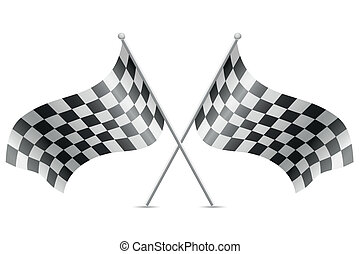 checkered flags for car racing vector illustration isolated...