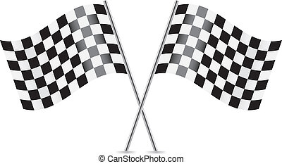 Checkered Flags (racing flags).