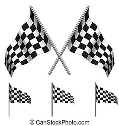 Checkered Flags (racing). Vector