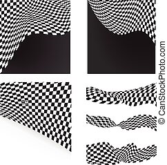 checkered flags set backgrounds and