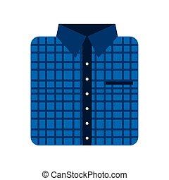 checkered folded shirt