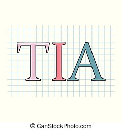 checkered, folha, (transient, attack), escrito, papel, tia, ischemic