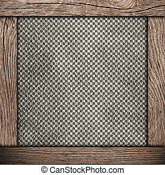 checkered, frame, hout, achtergrond