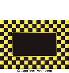 checkered gold picture frame