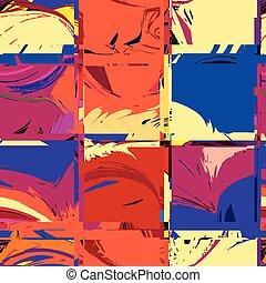 checkered, grunge, kleurrijke, model, seamless, gestreepte
