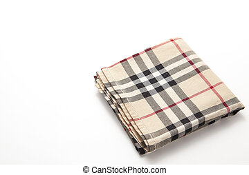 checkered handkerchief - This is a photograph of a checkered...