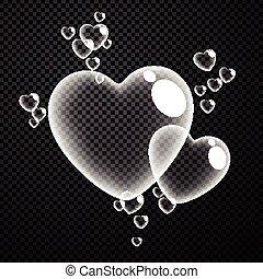 checkered, hearts., 背景, バレンタイン