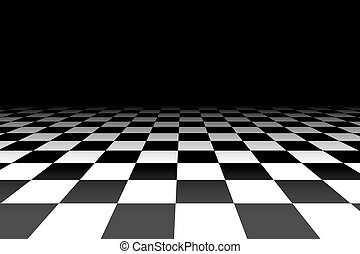 checkered, illustration., -, vecteur, perspective, fond