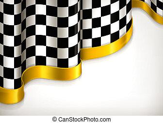 Checkered invitation background, vector