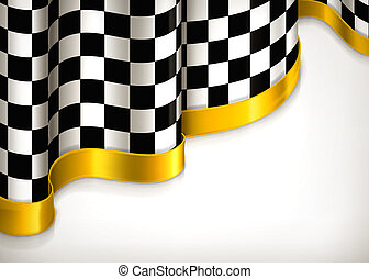 checkered, invitation, fond, vecteur