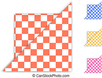 Checkered Napkin isolated on white background. Vector...