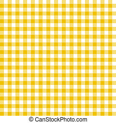 checkered, nappes, modèle, -, jaune, interminable