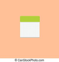 Checkered notepad icon