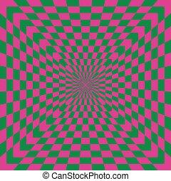 Checkered Optical Illusion - A classic optical illusion in...