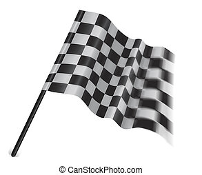 checkered or chequered flag on a white background