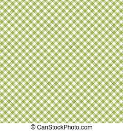 Checkered pattern green - endless