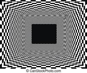 checkered, perspectief, achtergrond