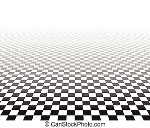 checkered, perspectief, surface.