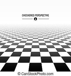 Checkered perspective background illustration
