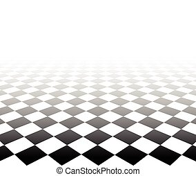 checkered, perspective, surface.