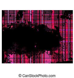 Checkered Pink Grunge Background.