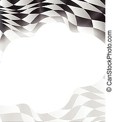 checkered race flag waving background layout design