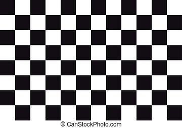 Checkered racing flag, correct size, color, vector - ...