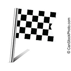 Checkered Racing flag pin