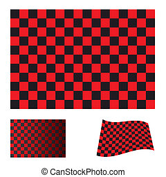 checkered red flag