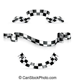 Checkered ribbons