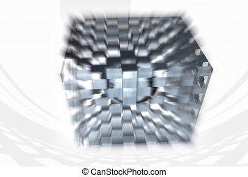 checkered, silver, white
