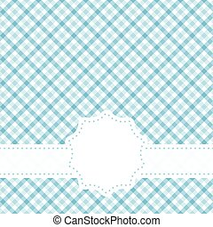 checkered table cloth pattern with banner - blue colored ...