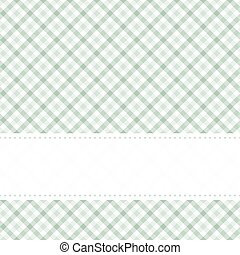 checkered table cloth pattern with banner - green colored...