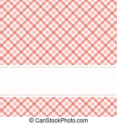 checkered table cloth pattern with banner - red colored ...