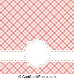checkered table cloth pattern with banner - red colored...