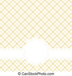checkered table cloth pattern with banner - yellow colored ...