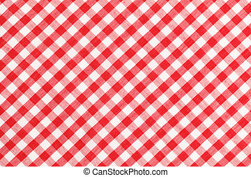 Checkered Table Cloth   Red And White Checkered Table Cloth.