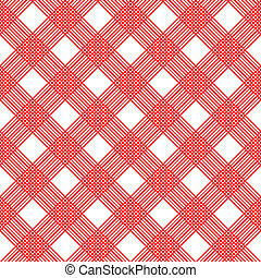 Checkered tablecloth. Seamless vector