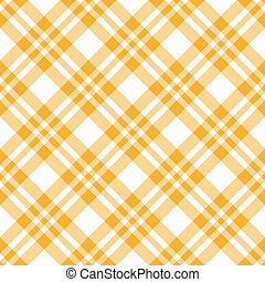 Checkered tablecloths pattern YELLOW - endless