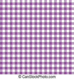 checkered, tafelkleden, model, -, paarse , eindeloos