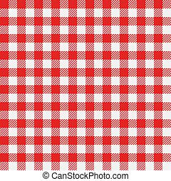 checkered tafelkleed