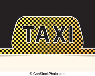Checkered taxi symbol background design