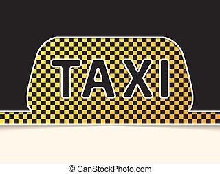 Checkered taxi symbol background design