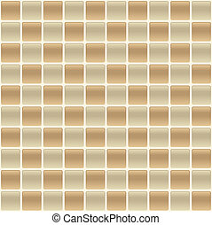 Vector checkered back splash tile design. Colors can be easily changed. Copy and paste sections to create a larger pattern.