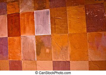 Checkered wall