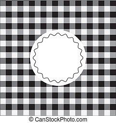 checkered, zwarte achtergrond