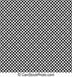 Checkers black pattern with circles on white seamless background.