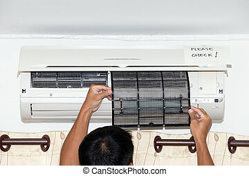 Checking air condition filter